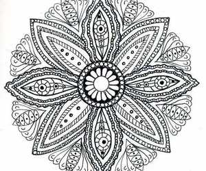 mandala, flowers, and overlay image