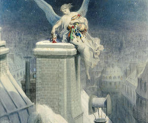 art, gustave dore, and christmas eve image