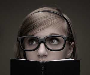 glasses and book image