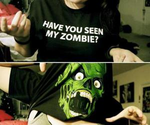 zombie, funny, and shirt image
