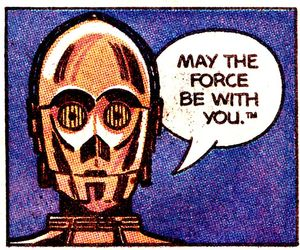 star wars, c3po, and the force image