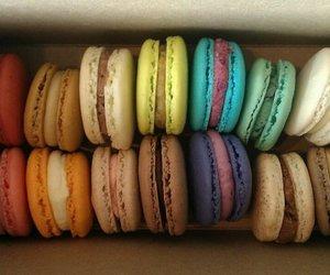 candy, macaron, and sugar image