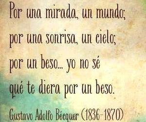 love, beso, and frases image