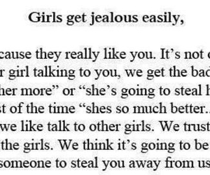 girls, jealous, and quote image