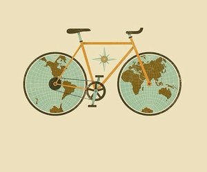 bicicle, world, and perfect image