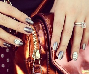 beauty, bejeweled, and manicure image