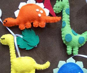 baby, dinosaur, and felt image