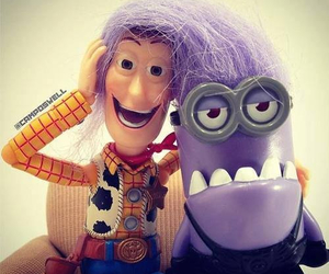 minions, woody, and toy story image