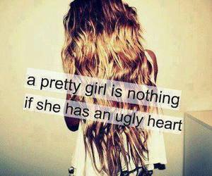 girl, pretty, and heart image