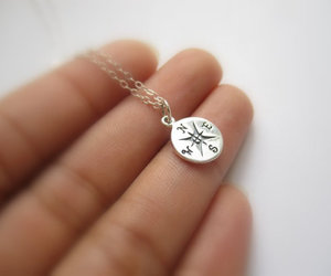 compass sterling silver image