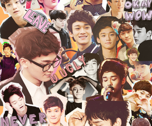 exo, Chen, and Collage image