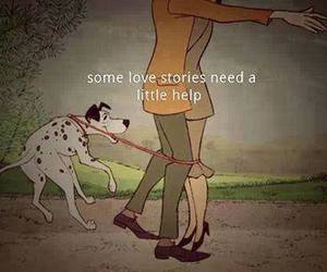 love, help, and dog image