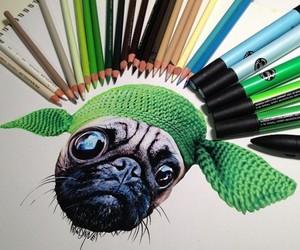 drawing, dog, and art image