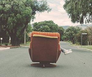street, chair, and sofa image
