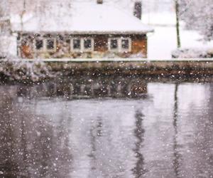 house, lake, and nice image