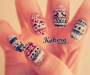 nails, style, and christmas image