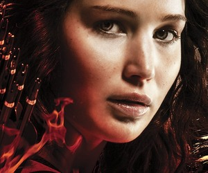 hunger games, girl on fire, and catching fire image