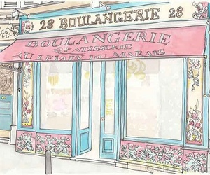 pink and boulangerie image