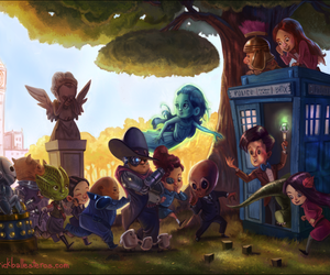 doctor who, cute, and tardis image