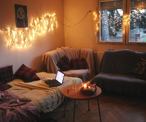 room, winter, and light image
