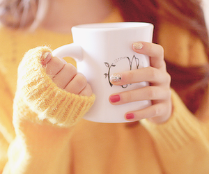 yellow, nails, and cup image