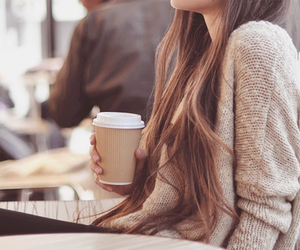 coffee, girl, and relax image