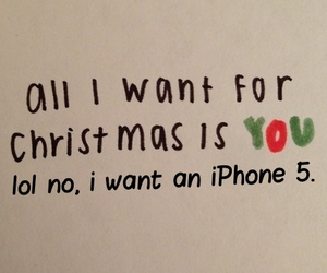 christmas, you, and iphone image