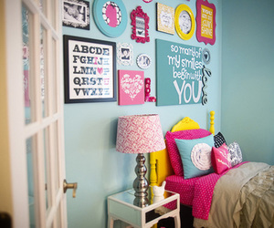 colours, cushions, and lamp image