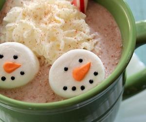 christmas, snowman, and drink image