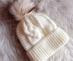 winter, white, and hat image