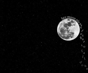 moon, panic! at the disco, and text image