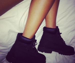 shoes, timberland, and black image