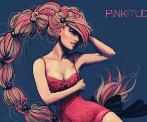 illustration and pink image