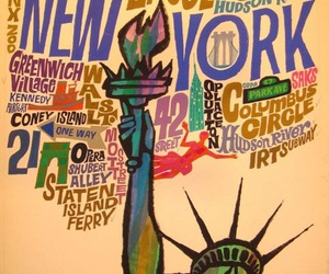 new york, vintage, and poster image