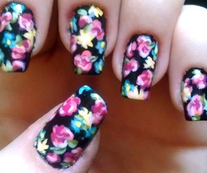 nails, colors, and flowers image