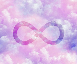 infinity, pink, and clouds image