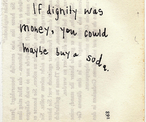 dignity, text, and money image