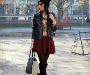 bag, burgundy, and fall image