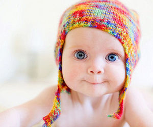 baby, blue eyes, and smile image