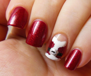 festive, manicure, and red image