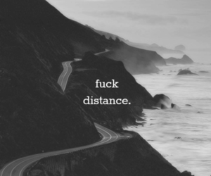 black and white, road, and fuckit image