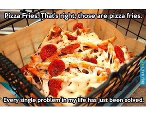 fries, pizza, and food image