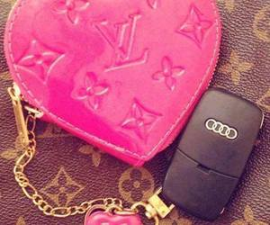 pink, audi, and Louis Vuitton image