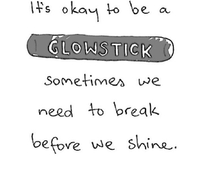 quote, shine, and glowstick image