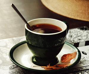 autumn, cup, and cup of tea image