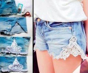 diy, fashion, and shorts image