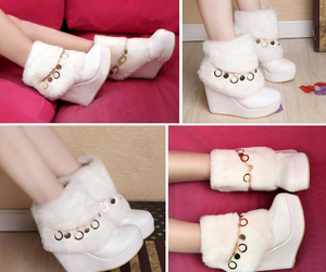fashion, girl, and wedges image