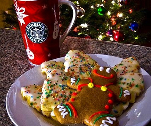 christmas, biscuits, and light image