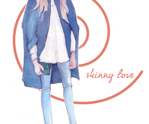 blonde, denim, and fashion illustration image