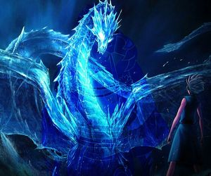 awesome, blue, and dragon image